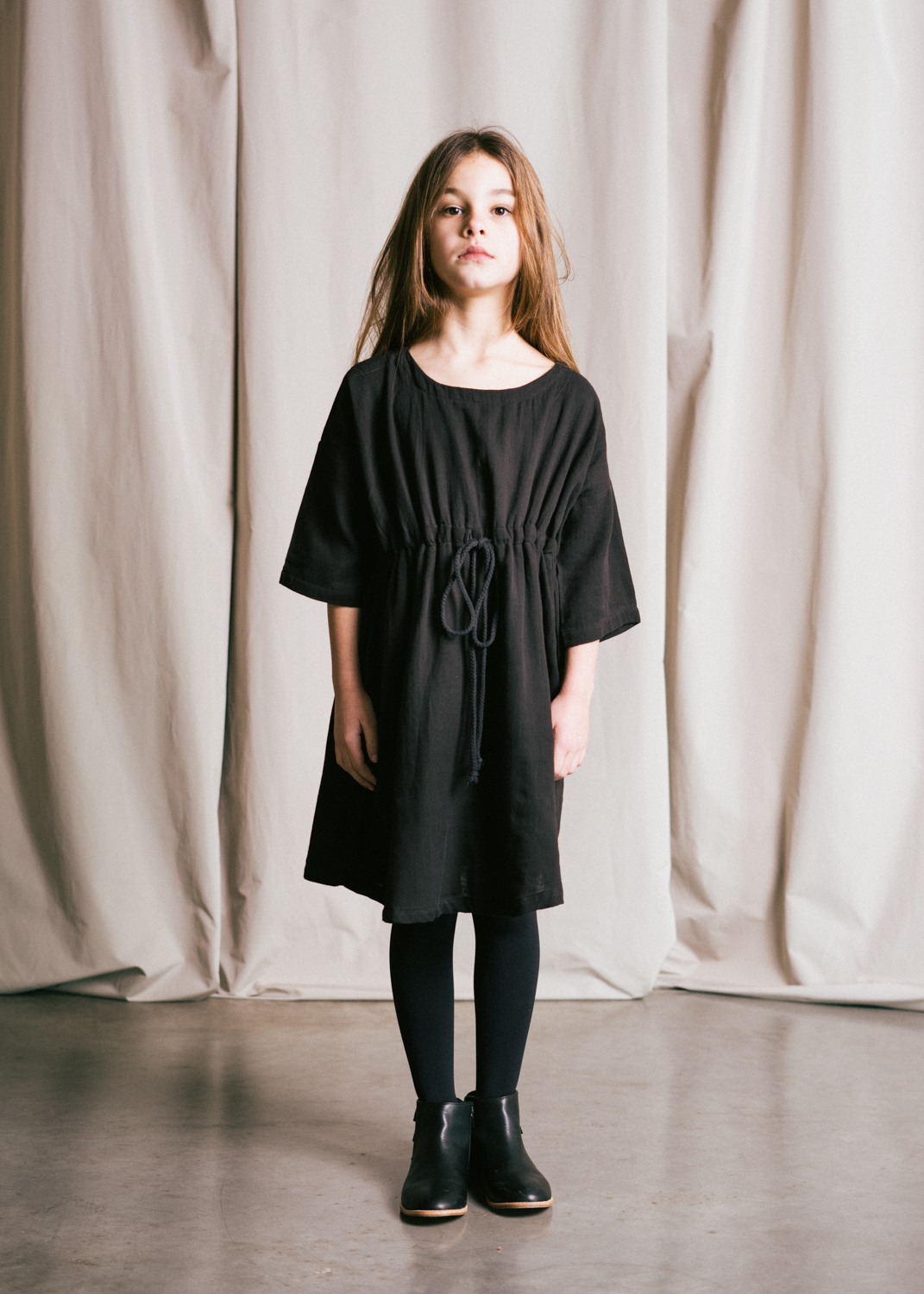 kids AW 18 Organic Cotton drawstring dress