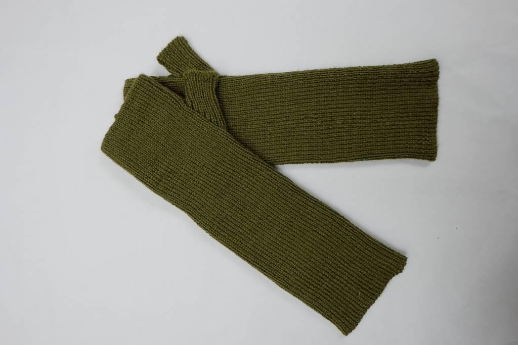 Hand knitted fingerless Gloves in Alpaca wool.