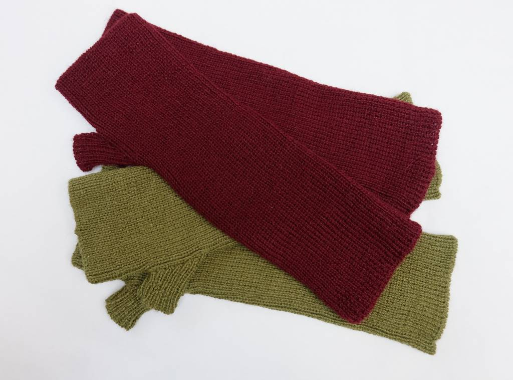 hand Knitted fingerless gloves in Alpaca wool