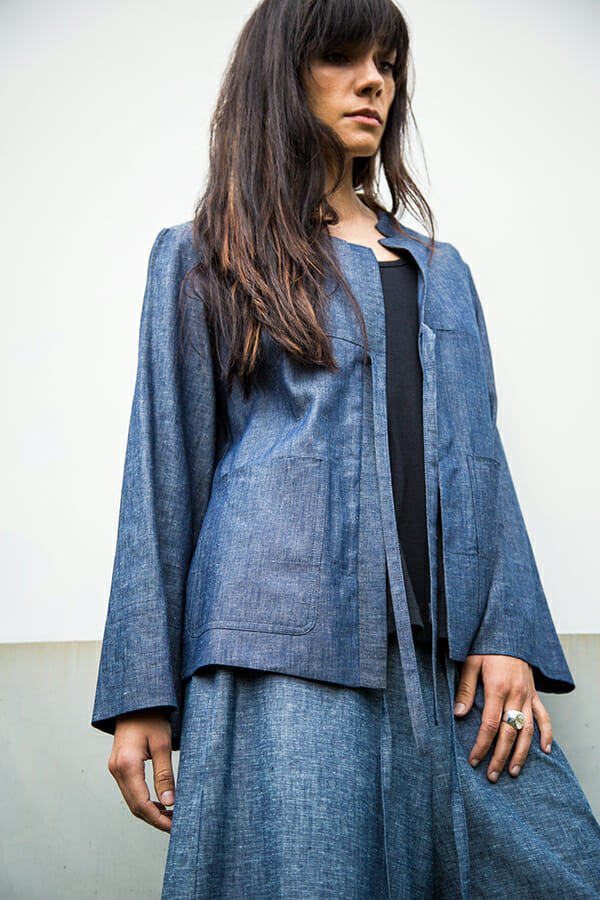 Typo Jacket in light cotton denim
